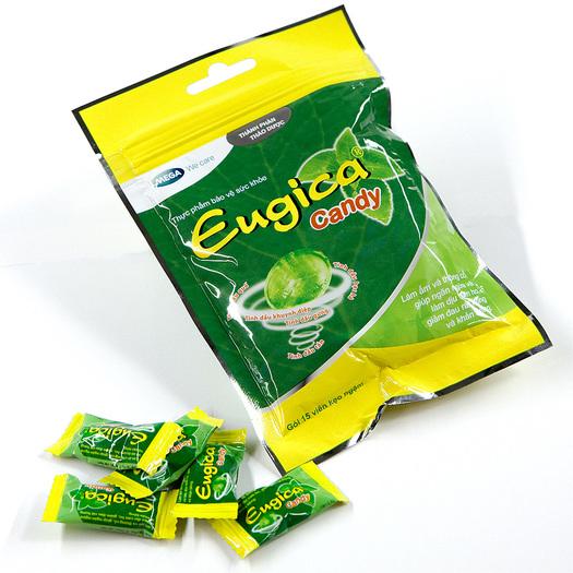 Конфеты Eugica Candy  для горла детям и взрослым, 15 ( В ЗИП ПАКЕТЕ)
